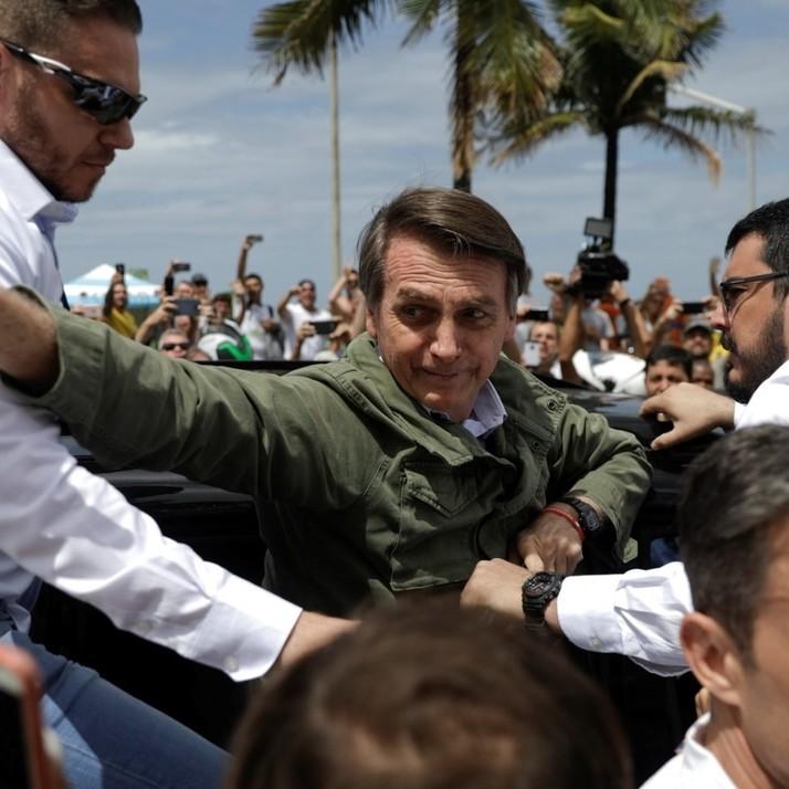 Un'immagine del nuovo presidente del Brasile Bolsonero