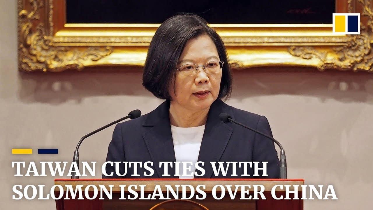 Taiwan, le isole Salomone rompono i rapporti