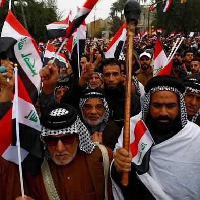 Iraq _ grande marcia per cacciare gli americani dall'Iraq